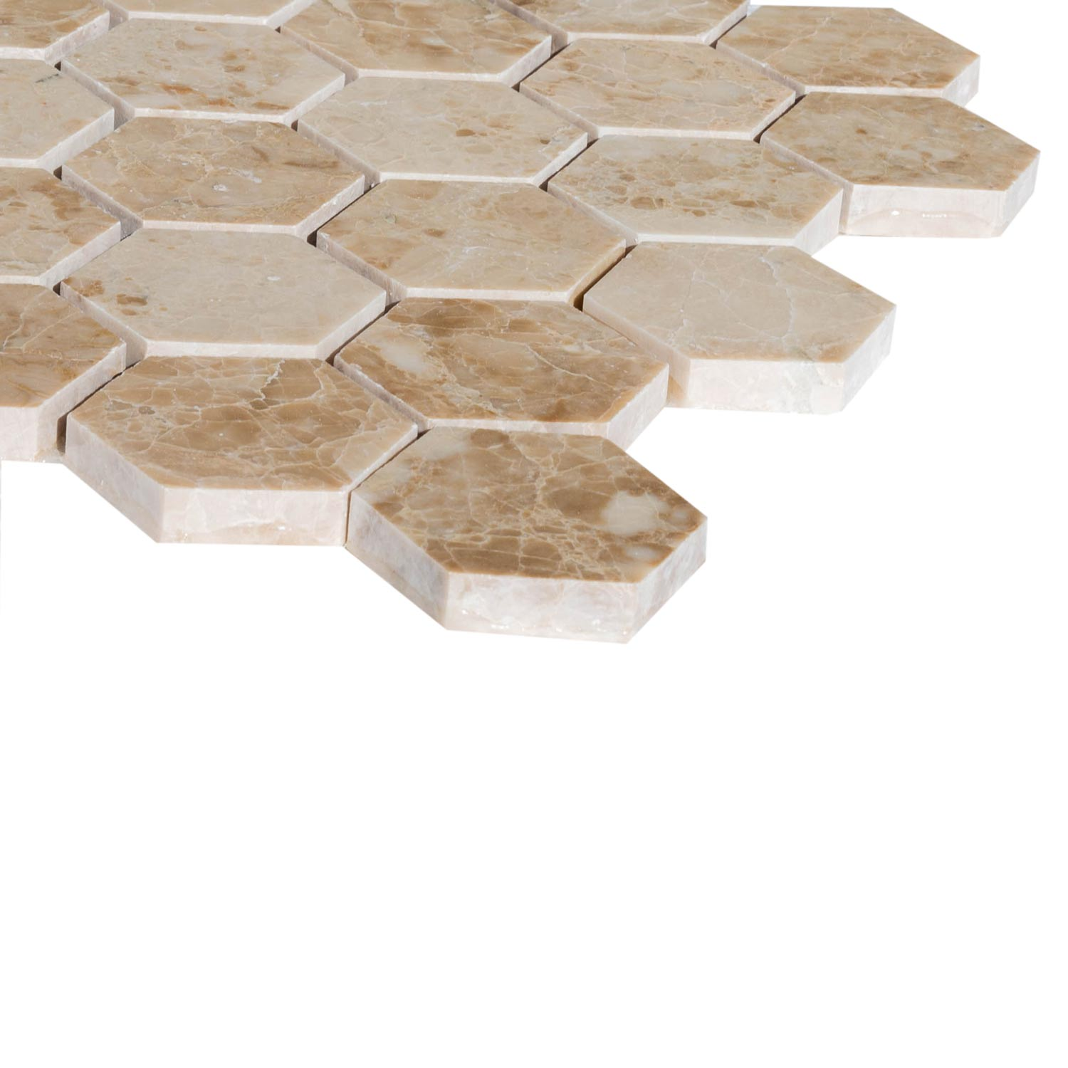 20020069-cappuccino-marble-mosaics-polished-2-hexagon-close-angle-profile-view-www.mayausatile