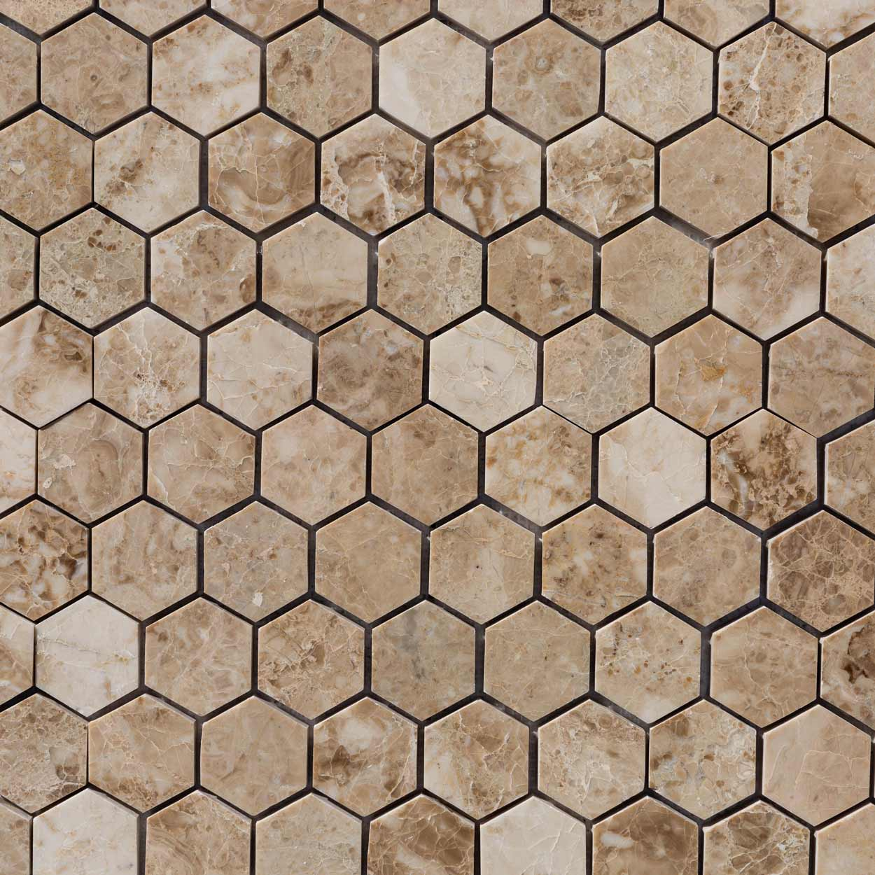 20020069-cappuccino-marble-mosaics-polished-2-hexagon-top-close-view-www.mayausatile