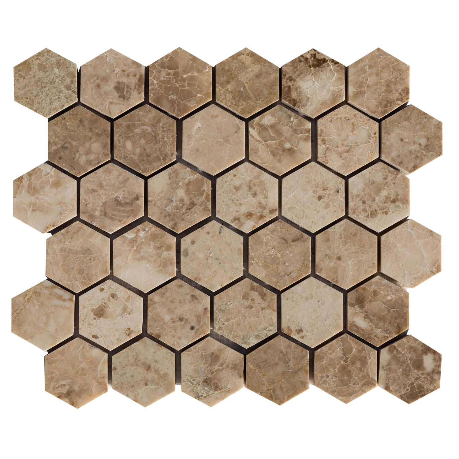 20020069-cappuccino-marble-mosaics-polished-2-hexagon-top-single-view-www.mayausatile