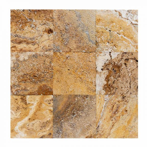 20020071-meandros-gold-yellow-travertine-pavers-12x12-multi-top-view-www.mayausatile