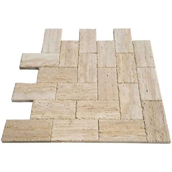20020074-denizli-beige-vein-cut-travertine-pavers-honed-chiseled-6x12-multi-angle-view-www.mayausatile