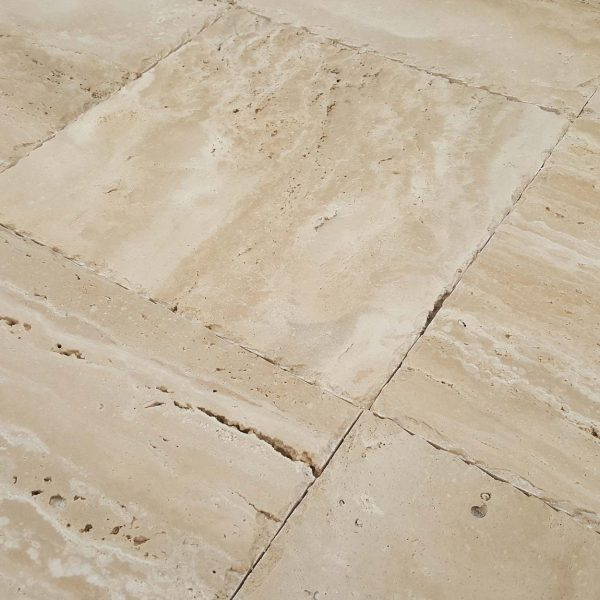 20020075-denizli-beige-vein-cut-travertine-pavers-honed-chiseled-12x12-close-angle-view-www.mayausatile