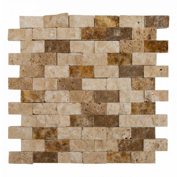 20012361-noce-beige-gold-splitface-travertine-mosaics-1x2-multi-top-single-profile-www.mayausatile.com