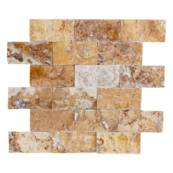 20012403-Scabos-Splitface-travertine-mosaic-2x4-piece-view-2S3A2275