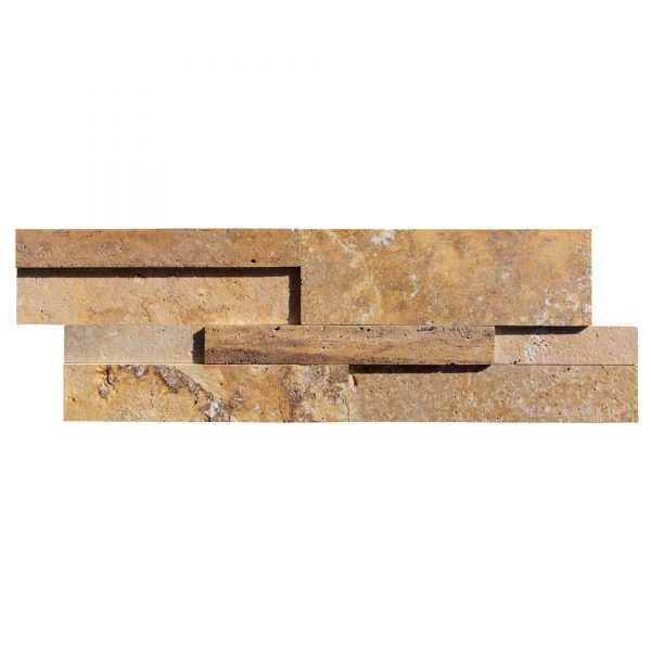 20201001-Gold-3D-Travertine-Ledger-Panel-Honed-8-24-3:4-Single-Piece-View2S3A3739