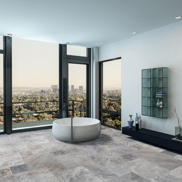 10077236-Silver-grey-Antique-Pattern-Travertine-Tile-room-view-2S3A2920-02